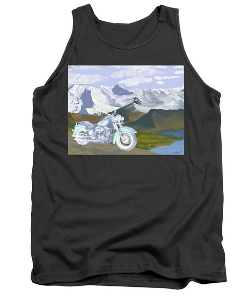 Tank Top featuring the drawing Summer Ride by Terry Frederick