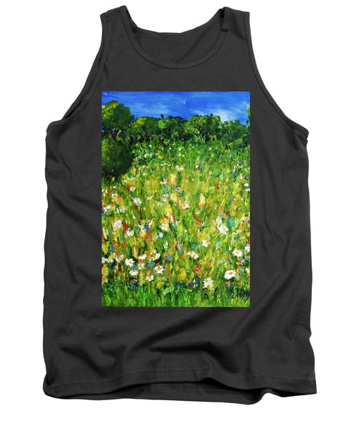 Tank Top featuring the painting The Glade by Evelina Popilian