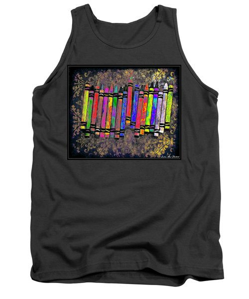 Summer's Crayon Love Tank Top by Iowan Stone-Flowers