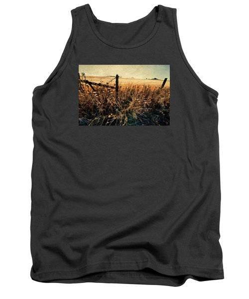 Tank Top featuring the photograph Summertime Country Fence by Steve Siri