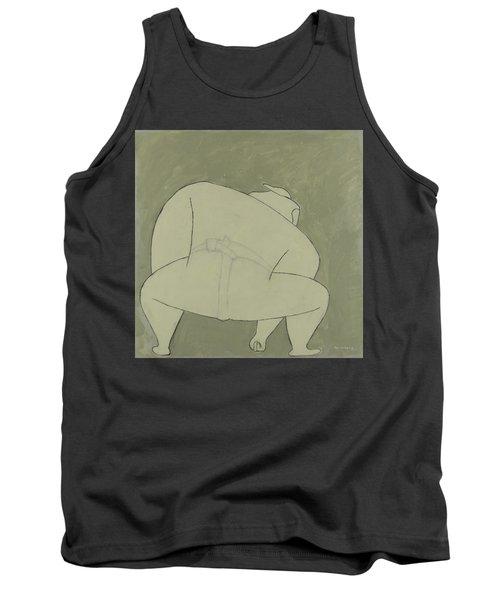 Sumo Wrestler Tank Top by Ben Gertsberg