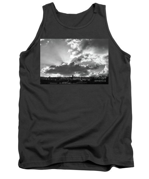 Tank Top featuring the photograph Sun Beams Over Church by Nicholas Burningham