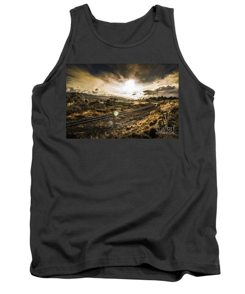 Sun Flared Railway Track Tank Top