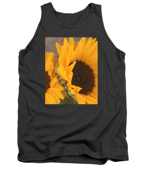 Tank Top featuring the digital art Sun Flower by Jana Russon