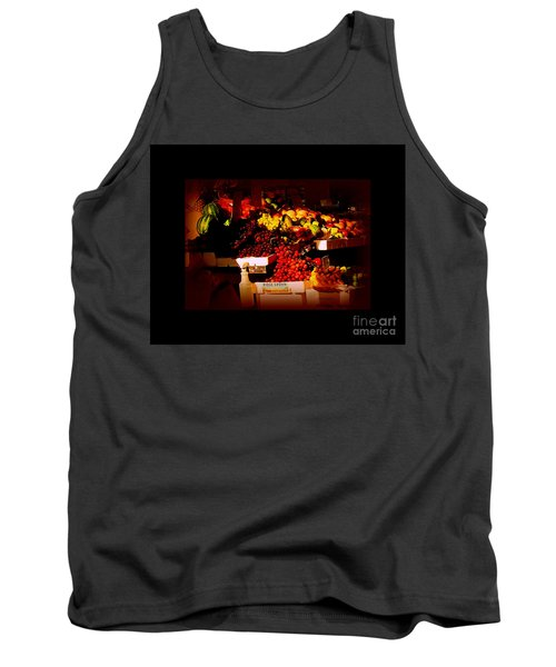 Tank Top featuring the photograph Sun On Fruit - Markets And Street Vendors Of New York City by Miriam Danar