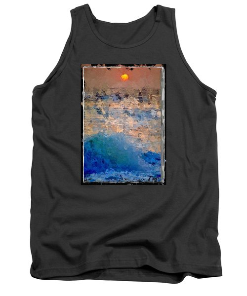 Tank Top featuring the digital art Sun Rays Abstract by Anthony Fishburne
