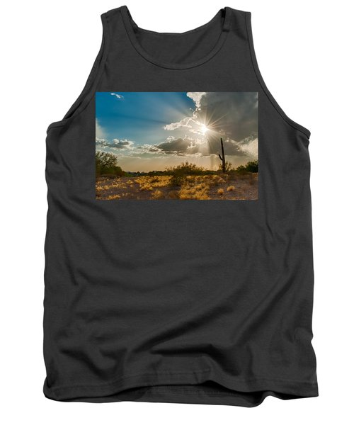 Tank Top featuring the photograph Sun Rays In Tucson by Dan McManus