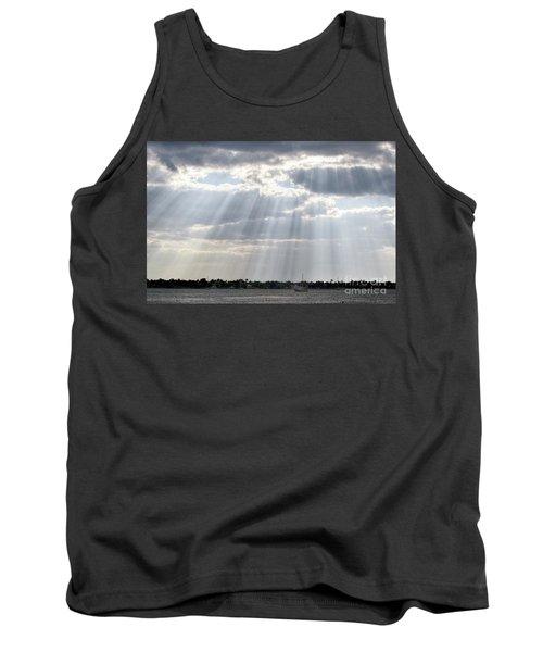Sun Rays Over Lagoon Tank Top