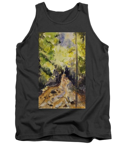 Tank Top featuring the painting Sun Shines Through by Geeta Biswas
