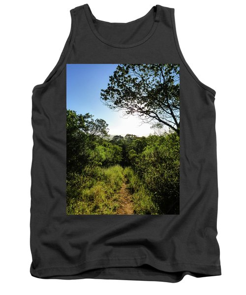 Sun Shining Over A Hiking Path In The Atlantic Forest Tank Top