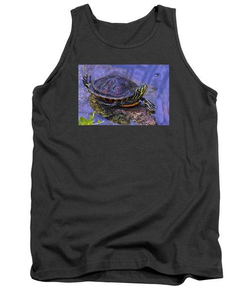 Sunbathing Turtle Tank Top