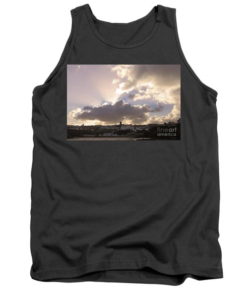 Tank Top featuring the photograph Sunbeams Over Church In Color by Nicholas Burningham