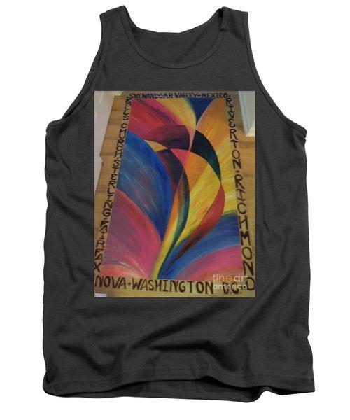 Sunburst Floorcloth Tank Top by Judith Espinoza