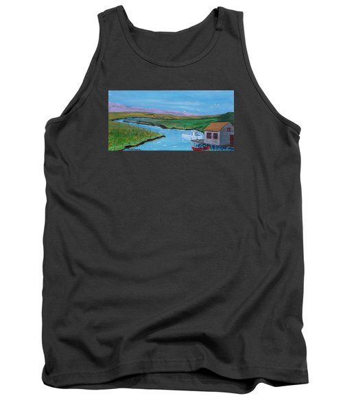 Sunday Afternoon On The California Delta Tank Top by Mike Caitham