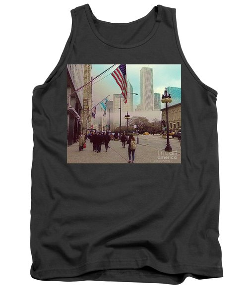 Sunday In The City Tank Top by Kathie Chicoine