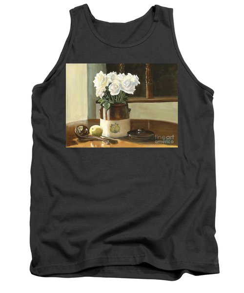 Sunday Morning And Roses - Study Tank Top by Marlene Book