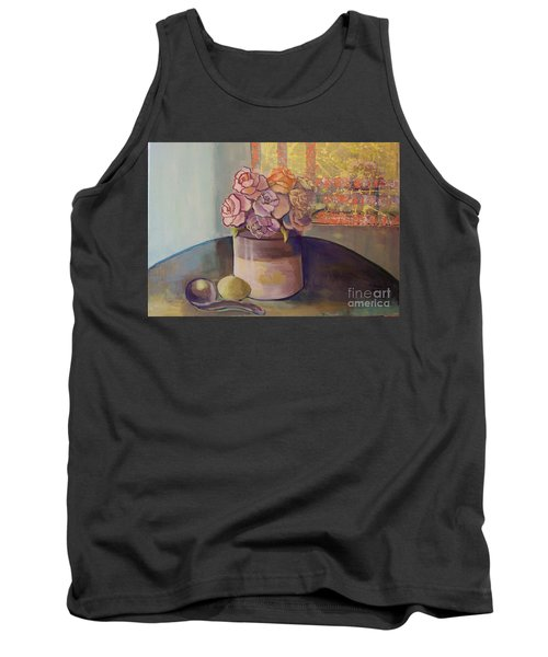Sunday Morning Roses Through The Looking Glass Tank Top by Marlene Book