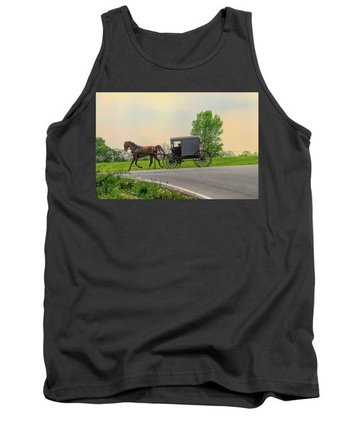 Sunday Ride At Sunset On Ronks Road Tank Top