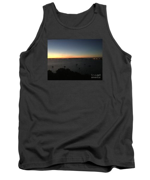 Sunday Sunrise, October 4, 2015, Casco Bay, Portland, Maine Tank Top by Patricia E Sundik