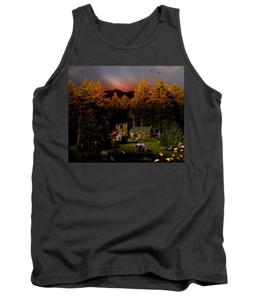 Sundown In The Rockies Tank Top by J Griff Griffin