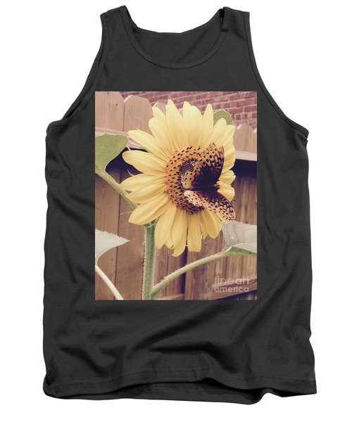 Sunflower And Butterfly Tank Top