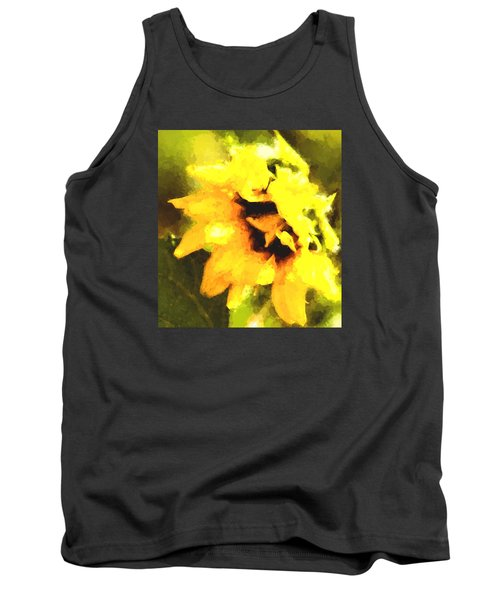 Sunflower Tank Top by Cathy Donohoue