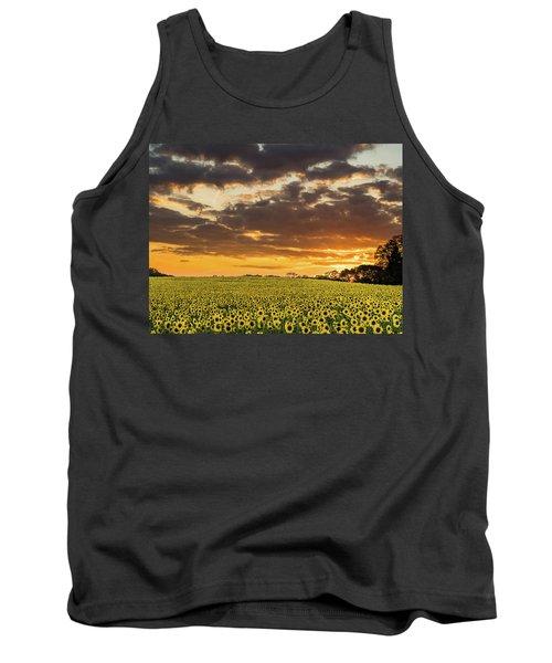 Sunflower Fields Sunset Tank Top