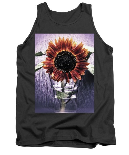 Sunflower In A Cup Tank Top by Karen Stahlros