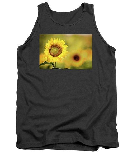 Sunflower In A Field Tank Top