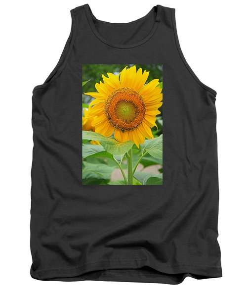 Sunflower Tank Top by Ronald Olivier