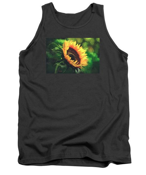 Tank Top featuring the painting Sunflower by Rose-Maries Pictures
