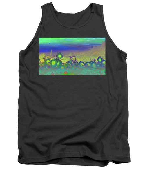 Sunflower Serenade Tank Top by Mike Breau