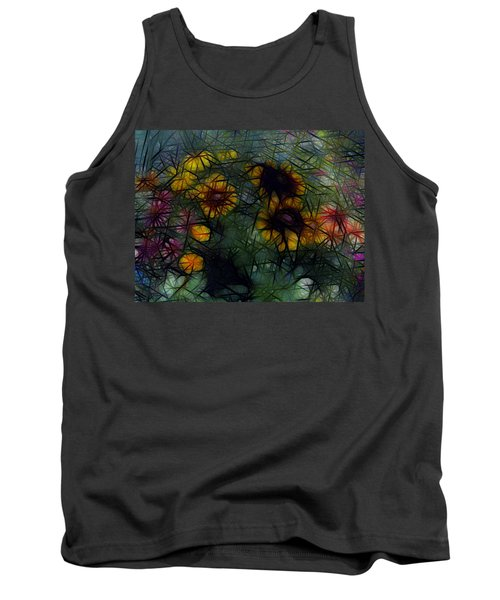 Sunflower Streaks Tank Top by Carol Crisafi