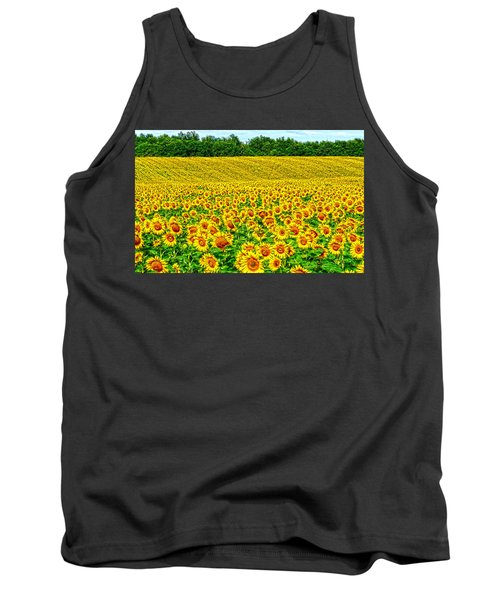 Sunflower Tank Top by Thomas M Pikolin