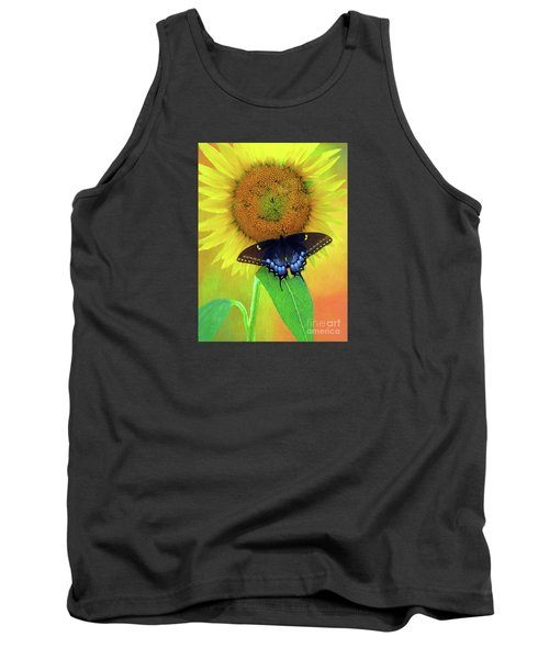 Sunflower With Company Tank Top by Marion Johnson