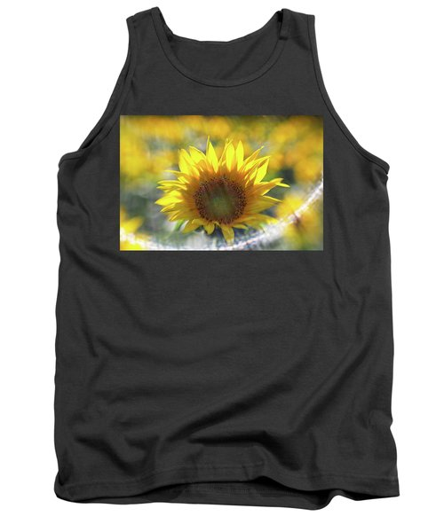 Sunflower With Lens Flare Tank Top