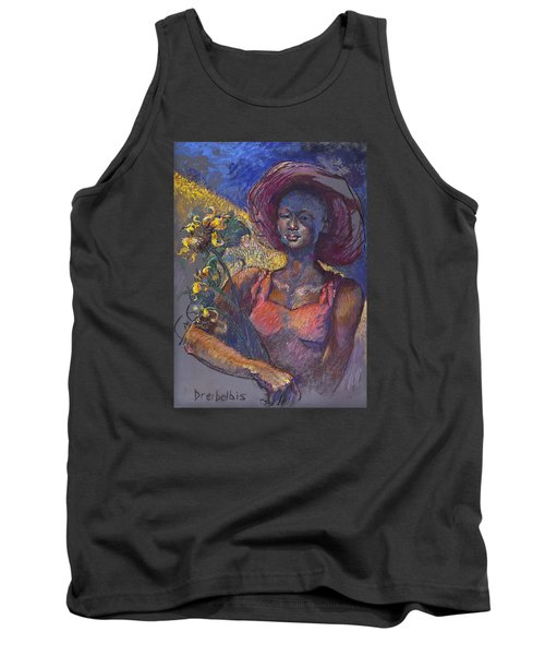 Sunflower Woman Tank Top