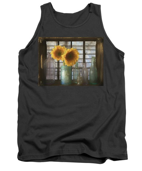 Sunflowers And Bottles Tank Top