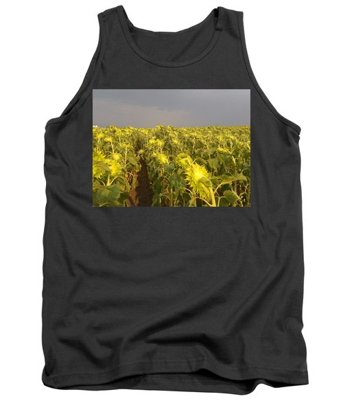 Sunflowers Before The Storm Tank Top