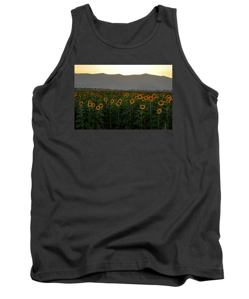 Tank Top featuring the photograph Sunflowers by Dubi Roman