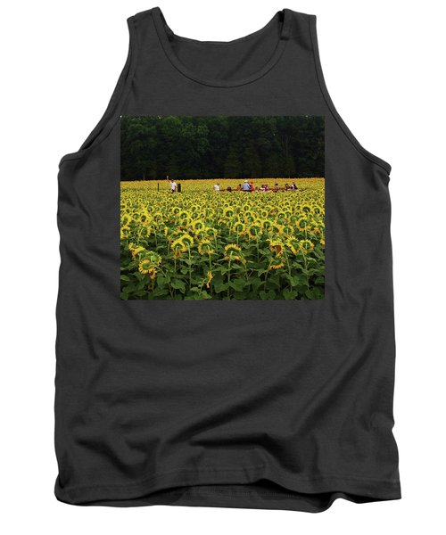 Tank Top featuring the photograph Sunflowers Everywhere by John Scates