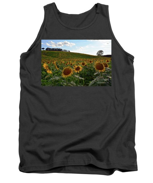 Sunflowers Fields  Tank Top