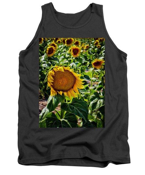 Sunflowers Glaze Tank Top