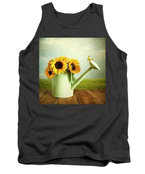 Sunflowers In A Watering Can Tank Top
