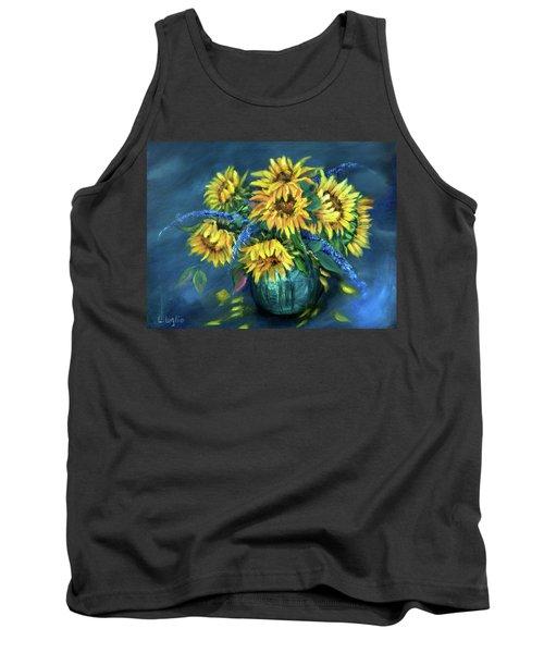 Sunflowers Still Life Tank Top