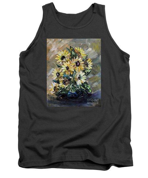Sunflowers Tank Top by Teresa Wegrzyn