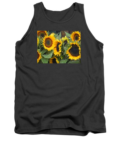 Tank Top featuring the photograph Sunflowers Two by Chrisann Ellis