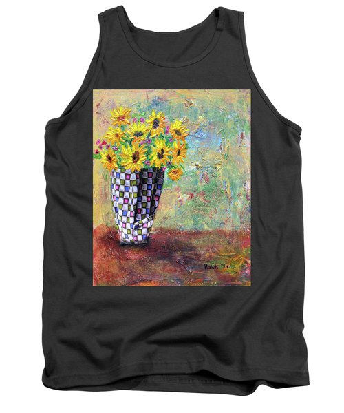 Sunflowers Warmth Tank Top by Haleh Mahbod