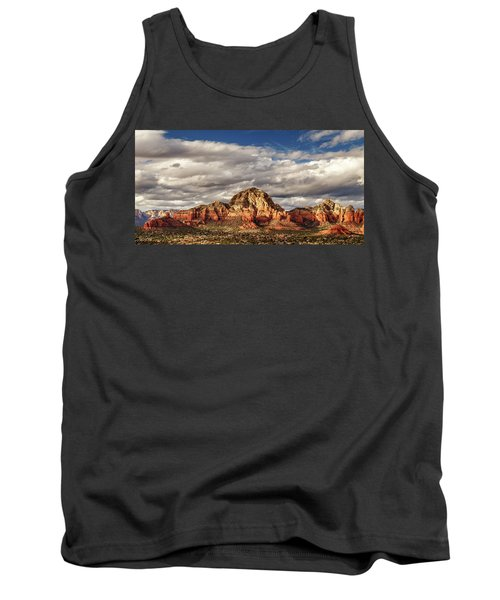 Tank Top featuring the photograph Sunlight On Sedona by James Eddy