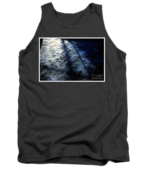 Sunlight Shadows On Ice - Abstract Tank Top